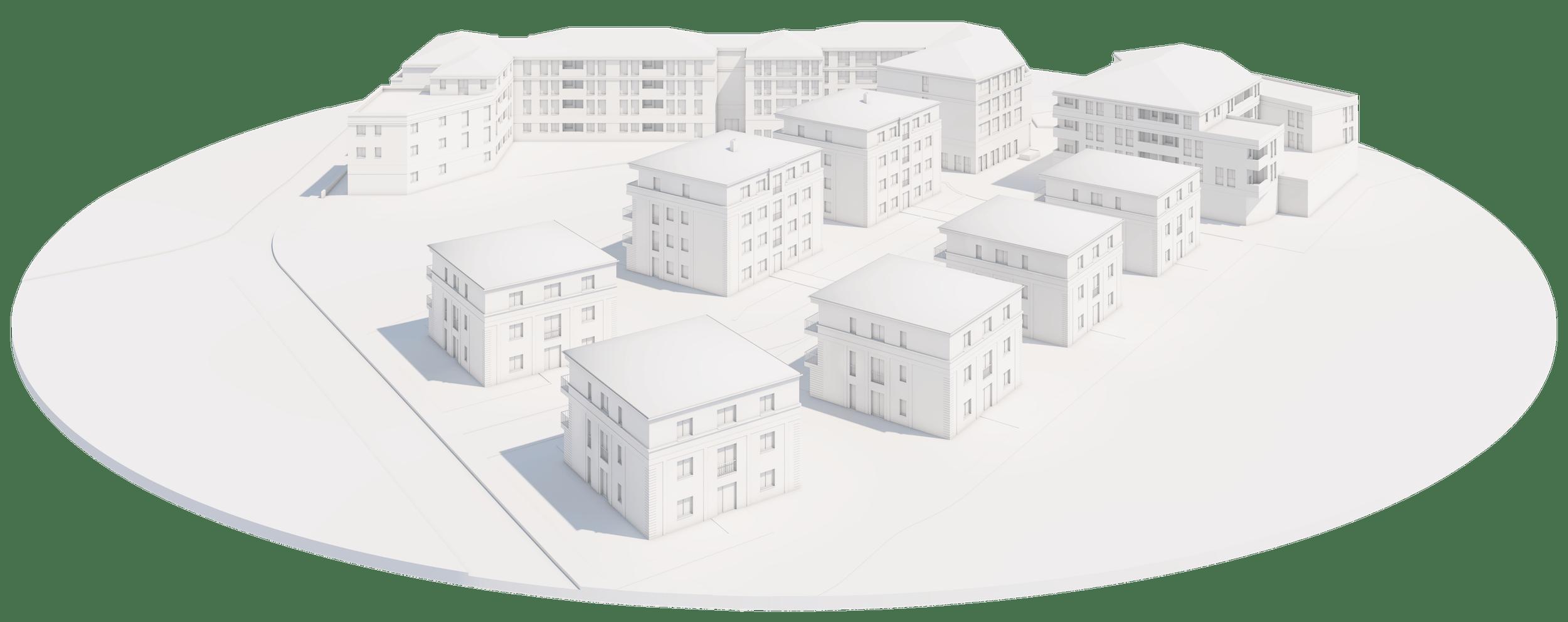 Villenpark Altradebeul 3D-Modell